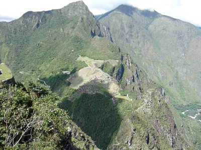 Machu Picchu as seen from Wayna Picchu