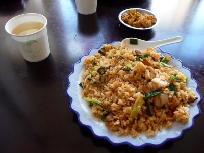 Yak-fat fried rice (is pretty tasty)