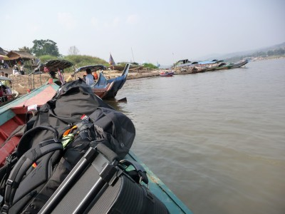 Crossing the Mekong into Laos