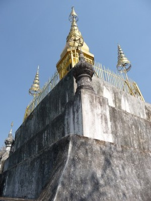Stupa at the top